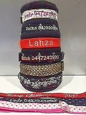 Dog Collar and lead personalised made in australia