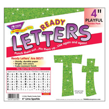 Lime Green Sparkle 4-Inch Display Letters Classroom Decoration - 181 Characters