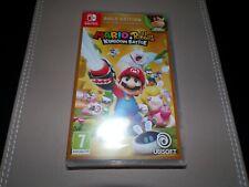 Mario + Rabbids Reino batalla Gold Edition Interruptor ** Nuevo Y Sellado **