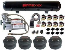 """Air Ride Parts AM400 Air Compressors 1/2"""" Brass Valves 2600 Bags Clear 7 Switch"""
