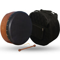 Muzikkon 40.6cmX6 Irisch Bodhran Verstellbare Schwarz Skin, Bodhran, Trommel