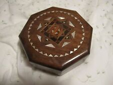 SYRIAN Hand Made Mosaic JEWELRY BOX INLAID WITH Mosaic Wood