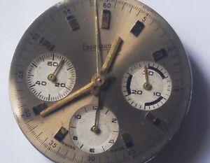 EBERHARD & Co DIAL Valjoux 72 Vintage Chronograph Panda Zifferblatt Heuer