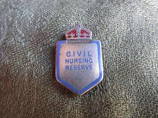 Civil Nursing Reserve -- Silver Badge -- WW2 / Medical Interest