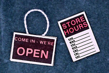 Dollhouse Miniature Store Signs-Package of Two