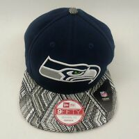 New Era Seattle Seahawks 9FIFTY Tricked Trim Snapback Cap Hat
