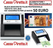 RILEVATORE DI BANCONOTE FALSE AGGIORNATO 100% TESTATO BCE NUOVO + BATTERIA LITIO