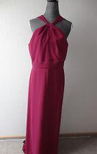 Neu Esprit Maxikleid Neckholderkleid Kleid Gr.40 weinrot zu Jacke Schuhe