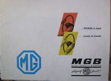 * MGB MG B  Brochure Prospekt ORIGINAL english   *