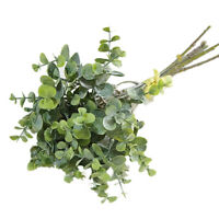 6 Pcs Eucalyptus Plastic Artificial Leaves Bunch for Home Christmas Wedding D w0