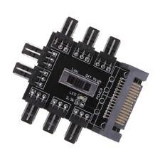 SATA Fan 1 to 8 Channel Hub 12V 3Pin Power Supply Splitter Adapter PC Fan