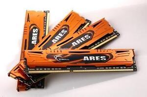 16GB G.Skill DDR3 PC3-12800 1600MHz Ares Series Low Profile (9-9-9) Quad kit