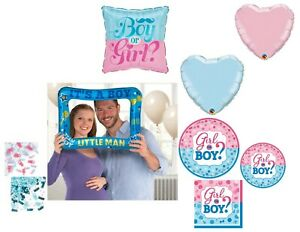 Gender Reveal Boy Party Supplies Baby Shower Plates Napkins Balloons Decorations