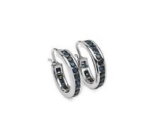 Schmuckmart Ohrringe 925 Sterling Silber blauer Saphir S6#95