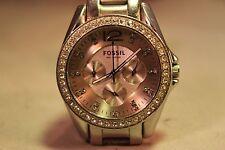 Beautiful Ladies / Women's  Ceramic  Chronograph Fossil Watch Quartz