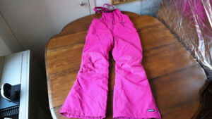 Lands' End Kids Bib Snow Pants Ski board Girl Pink Size 10