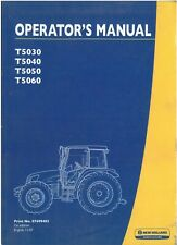 New Holland Tractor T5000 Series - T5030 T5040 T5050 T5060 Operators Manual
