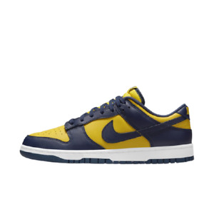 "[Nike] Dunk Low ""Michigan"" Shoes Sneakers - Varsity Maize (DD1391-700)"