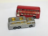 Vintage 1970's Matchbox Superfast Lesney England Greyhound Coach Esso Petrol Bus
