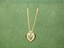 "STAR CRYSTAL *NEW* Pendentif Coeur Lettre ""T"" chaîne dorée Pendant crystal/gold"