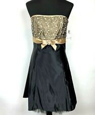 New Gunne Sax Jessica Mcclintock Homecoming Dress size 11 Black Skater Wedding