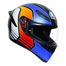 Cascos de moto AGV K1 Power Matt Dark Blue Orange White talla S integral 2020