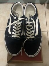 Vans Dark Blue Authentic Brand New New Arrival Sneakers with white detail
