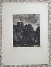 Eau Forte XIXème - Clair de Lune - John Berney Crome - Théophile Chauvel