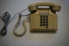 touch tone phone square Northern Telecom RD 1987 beige art deco prop telephone