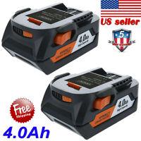 2Pack for RIDGID R840085 18V 4.0Ah Hyper Li-ion Battery R840087 R840086 R840083