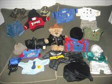 Build a bear , A  Bear, clothes,book bag,Phone ,Batman,Harley Jacket, and More