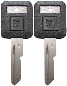 "2 Pack - GM Logo Factory Original ""C"" IGNITION Key Blanks Uncut 594032 B50-P"