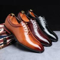 Fashion Men Leather Business Dress Formal Shoes Lace up Non-slip Shoes Plus Size