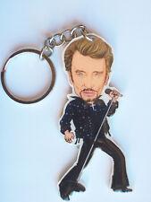 Porte-clé caricature de Johnny Hallyday