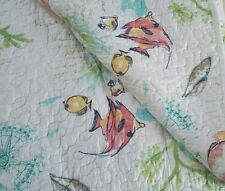 Sigrid Olsen Ocean Coastal Tropical F/Queen QUILT SET 3PC Fish Coral Aqua Beach