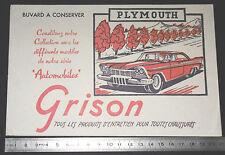 BUVARD 1950 GRISON ENTRETIEN CHAUSSURES AUTOMOBILE AUTO PLYMOUTH