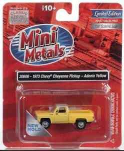 1:87 HO Scale *MINI METALS* 1973 Chevy Cheyenne Pickup ADONIS YELLOW *NIP*