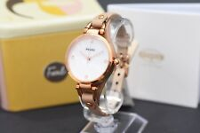 FOSSIL Georgia Silver Dial Rose Gold Stainless Ladies Watch ES3151 RRP £109