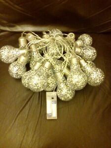 20 LIGHT BULB FAIRY LIGHTS BATTERY OPERATED WORKING