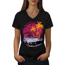 Mustang Car Women V-Neck T-shirt NEW   Wellcoda