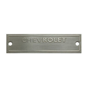 Chevy Replacement VIN Plate Chevrolet Tag Serial Number Data Classic Car Blank