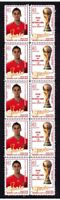 SPAIN 2010 WORLD CUP WIN MINT STAMP STRIP, ARBELOA