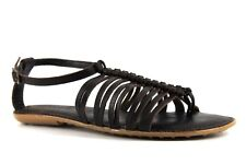 Clarks Soul of Africa Womens UK 5 D Bronze Leather African Berry Flat Sandals