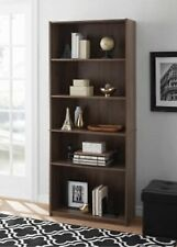 "Mainstays 71"" 5 Shelf Brown Bookcase"