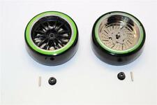 Delrin Drift Tires 26mm w/ 6-spoke plastic wheels 1 pr GPM Racing DT999W+TBKG