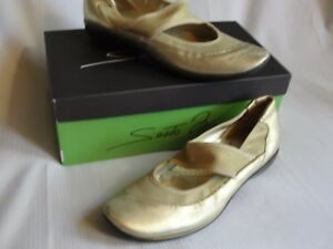 SESTO MEUCCI Size 7N  Gold Slip On Flats Mary Janes Casual Comfort Shoes