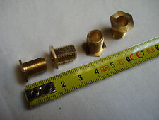 2 raccords à écrou 6 pans 13 mm avec 2 méplats filetage 10 x 1 mm