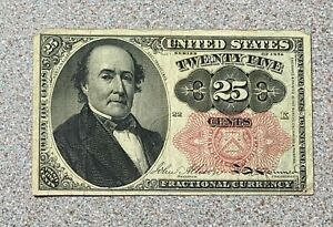 25c Fractional Currency Note * Twenty Five Cents * Fifth Issue