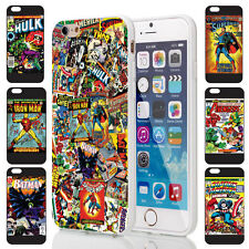 Comic Book Super Hero Vintage Retro Comic Style TPU Cover Case for iPhone Range