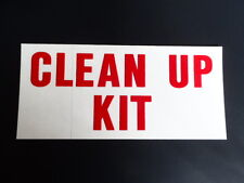 "BLUEBIRD THOMAS AMTRAM TRANSIT  BUS SCHOOL BUS  ""CLEAN UP KIT  "" DECAL  NEW"